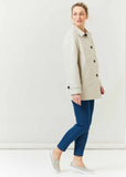 Maisy Short Lightweight Mac - Stone