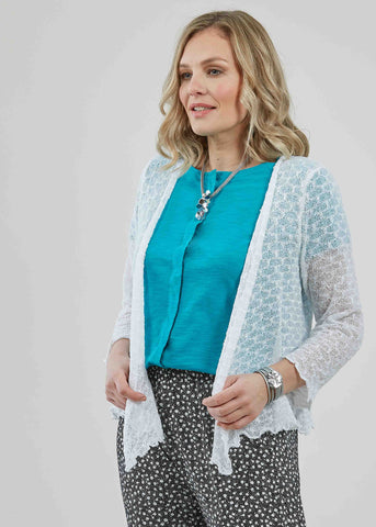 Mandy Wrap Cardigan - White