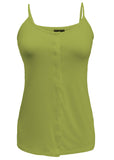 Maria Jersey Front Opening Velcro Vest - Golden Lime