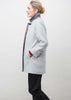 Marilyn Wool Blend Velcro Coat - Light Grey