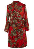 Naomi Floral Wrap Dress - Red