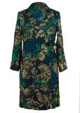 Naomi Floral Wrap Dress - Deep Teal