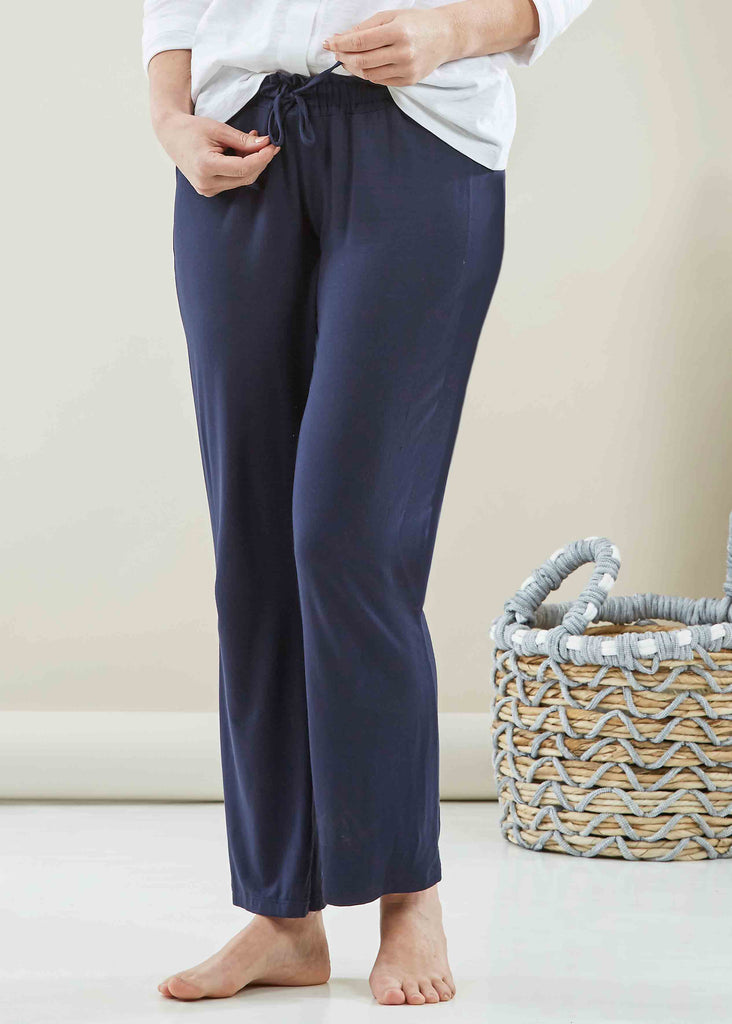 Natalia Jersey Pull On Lounge Trousers - Navy