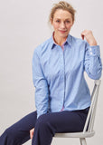 Olivia Long Sleeve Oxford Shirt - Blue