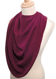 Pashmina Scarf Style Clothing Protector - Burgundy