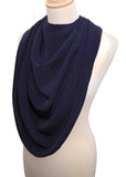 Pashmina Scarf Style Clothing Protector - Navy