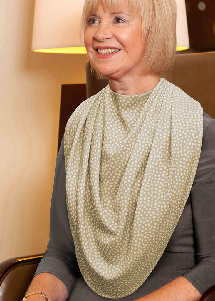 Pashmina Scarf Style Clothing Protector - Sage: VAT Exempt
