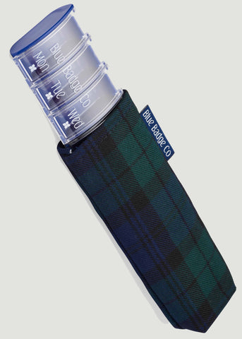 Weekly Pill Box & Case by Blue Badge Company - Tartan