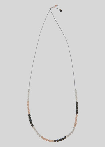 Suzie Long Droplet Beaded Overhead Necklace - Multi
