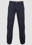 Spencer Straight 5 Pocket Velcro Trouser - Midnight