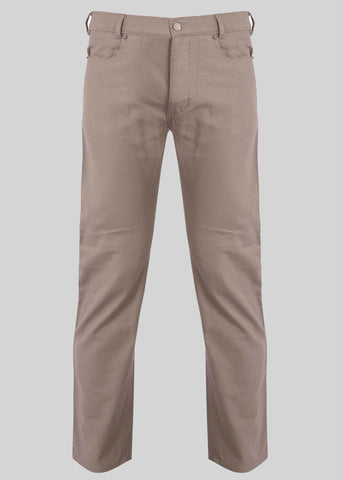 Spencer Straight 5 Pocket Velcro Trouser - Stone: VAT Exempt