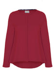 Stella Round Neck Jersey Long Sleeve Velcro Top - Dragon Red