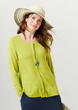 Stella Round Neck Jersey Long Sleeve Velcro Top - Golden Lime: VAT Exempt