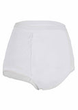 Super Absorbent Washable Full Brief Knickers - White