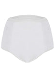 Super Absorbent Washable Full Brief Knickers - White: VAT Exempt