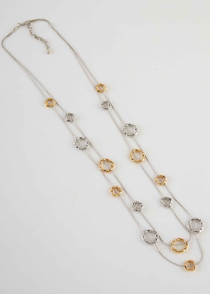 Suzanne Long Metals Overhead Necklace - Multi Metals