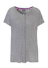 Tabatha Pure Cotton Short Sleeve Velcro Tee - Grey