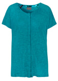 Tabatha Pure Cotton Short Sleeve Velcro Tee - Jade: VAT Exempt