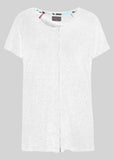 Tabatha Pure Cotton Short Sleeve Velcro Tee - White: VAT Exempt