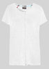 Tabatha Pure Cotton Short Sleeve Velcro Tee - White