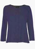 Tabby Pure Cotton Long Sleeve Velcro Tee - Navy