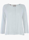 Tabby Pure Cotton Long Sleeve Velcro Tee - White: VAT Exempt