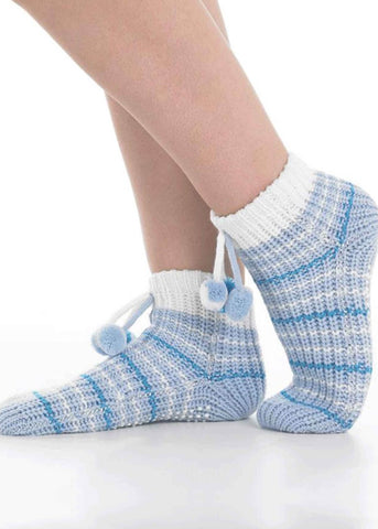 Cheryl Non-Slip Bed Socks - Seaspray