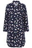 Julia Woven Nightdress - Navy