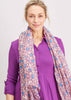Heart Print Scarf - Plum Purple