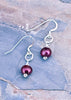 Eve Pearl Drop Earrings - Dragon Red