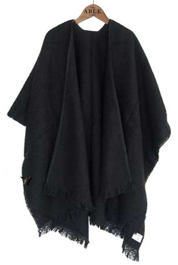 Laura Knitted Wrap - Black