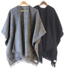 Laura Knitted Wrap - Charcoal