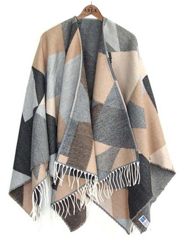 Lianne Knitted Wrap - Neutral