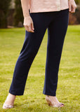 Frank Straight Leg Jersey Pull On Trousers - Navy