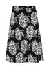 Toni Cotton Wrap Skirt - Black Floral: VAT Exempt