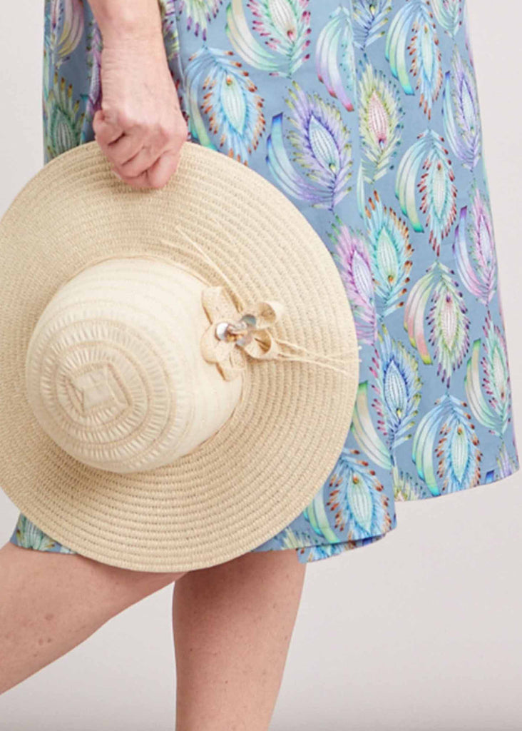 Wendy Foldable Straw Sun Hat - Beige