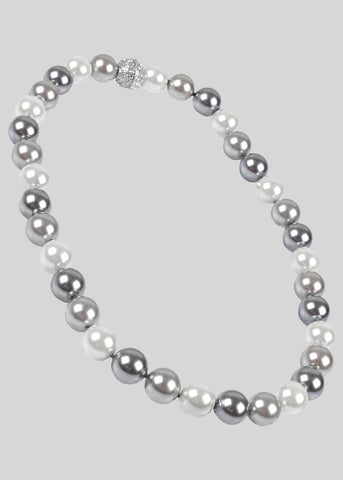 Pearl Magnetic Necklace - Taupe