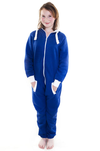 Children Royal Blue Onesie Unisex