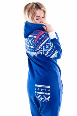 Blue Aztec Ladies Tracksuit Onesie