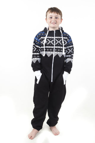Children's Black Aztec Print Onesie