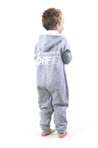 Toddler's Grey JDRF Type Onesie