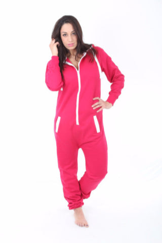 Hot Pink Onesie Adult Ladies