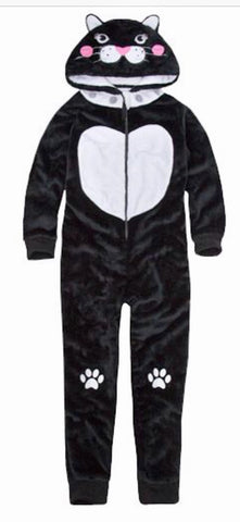 Kids Cat Black & White Onesie