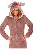 Reindeer Rudolph Onesie Adults - Onesie Warehouse