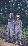 Raccoon Grey Onesie - Onesie Warehouse