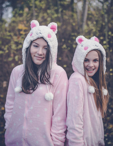 Women's Sheep Pink & Cream Onesie