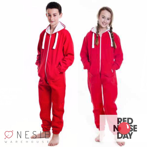 Children's Red Onesie Unisex Tracksuit