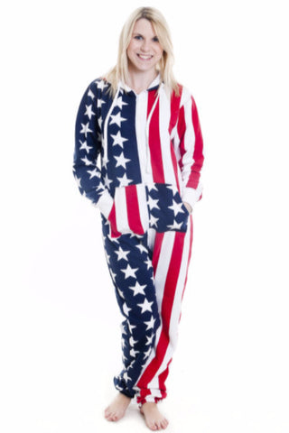 USA American Stars and Stripes Onesie