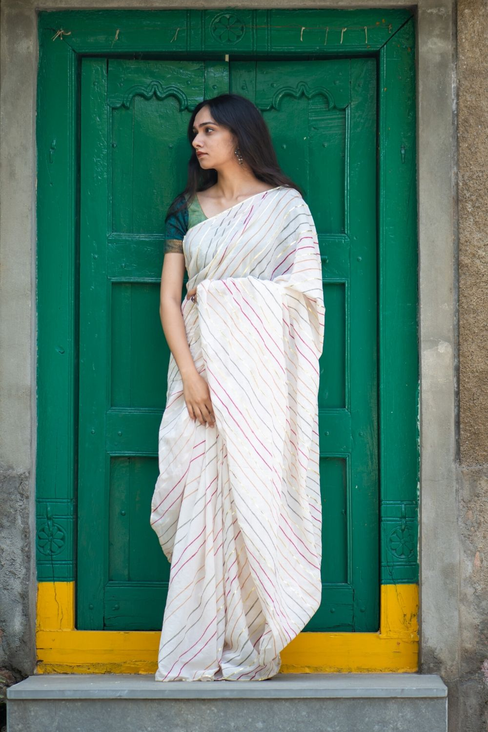Lines and Gota Saree