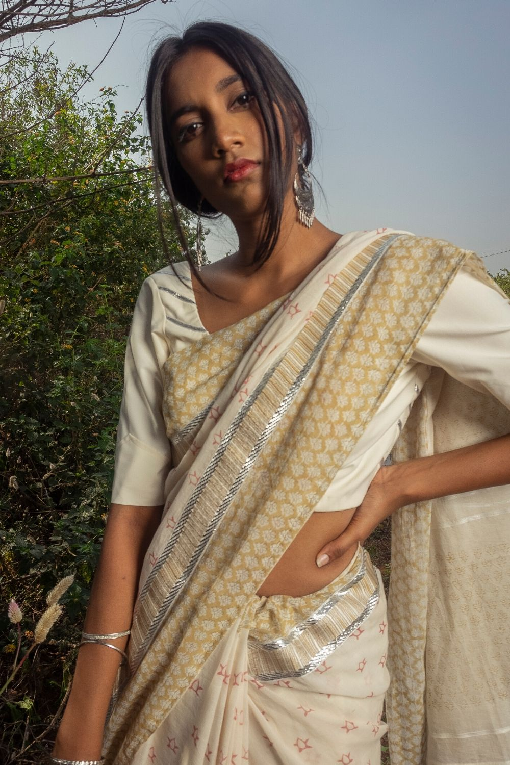 Olive Meadow Saree